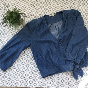 Madewell chambray shirt ~